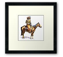 Arizona Cowboy Framed Print