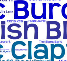 British Blues Artists Sticker