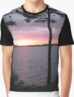 Lake Sunset,-Available As Art Prints-Mugs,Cases,Duvets,T Shirts,Stickers,etc Graphic T-Shirt