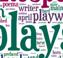 Shakespeare Word Art Sticker