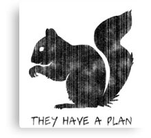 Squirrels: They Have A Plan Canvas Print