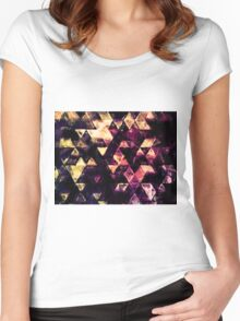 triangle impressionism Women's Fitted Scoop T-Shirt