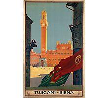 Vintage poster - Tuscany-Siena Photographic Print