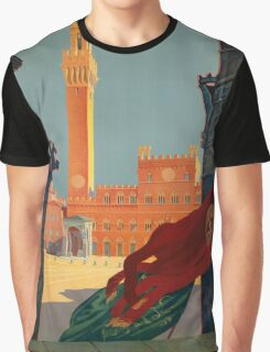 Vintage poster - Tuscany-Siena Graphic T-Shirt