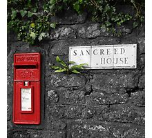 Sancreed Postbox Photographic Print