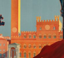 Vintage poster - Tuscany-Siena Sticker