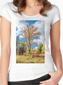 Warm autumn Women's Fitted Scoop T-Shirt