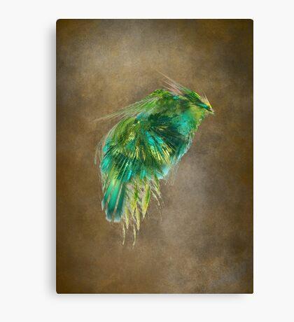 Green Bird - Fractal Art Canvas Print
