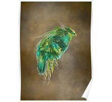 Green Bird - Fractal Art Poster