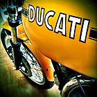 Yellow Ducati beauty by Janine Barr