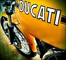 Yellow Ducati beauty by Janine Barr