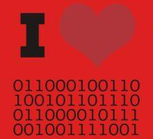 I Heart Binary One Piece - Short Sleeve