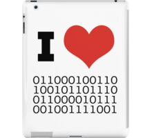 I Heart Binary iPad Case/Skin