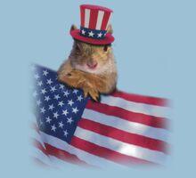 Patriotic Squirrel Kids Clothes