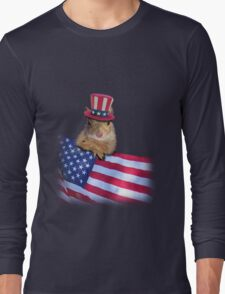 Patriotic Squirrel Long Sleeve T-Shirt