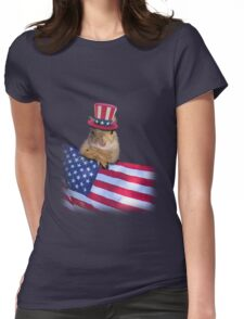 Patriotic Squirrel Womens Fitted T-Shirt