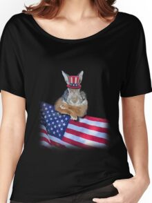 Patriotic Bunny Rabbit Women's Relaxed Fit T-Shirt