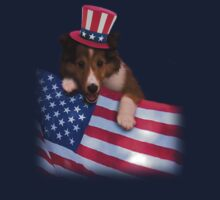 Patriotic Sheltie Puppy by jkartlife