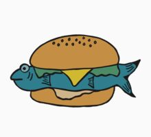 BLUE FISH BURGER One Piece - Short Sleeve