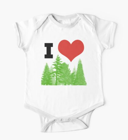 I Heart Pine Trees / Forest / Nature One Piece - Short Sleeve