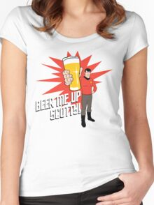 Beer Me Up Scotty Women's Fitted Scoop T-Shirt