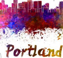 Portland skyline in watercolor Sticker