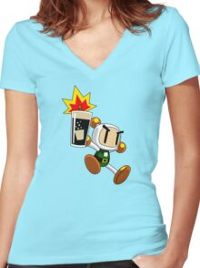 Irish Carbomber Man Women's Fitted V-Neck T-Shirt