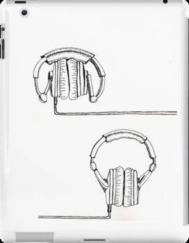 Headphones? Space invaders? by Rowland Jones