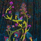 Magic mushrooms by Ruta Dumalakaite