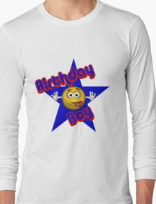 Cute Birthday Boy Smiley Face Long Sleeve T-Shirt