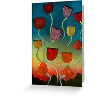 Tulips Ascending Greeting Card