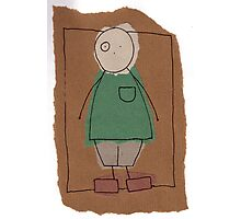 Brown paper boy Photographic Print
