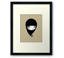 Black Drop Framed Print