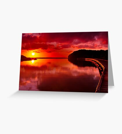 """Sunrise Over Spring Creek"" Greeting Card"