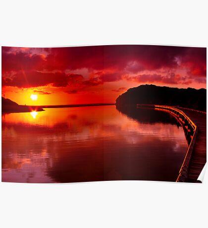 """Sunrise Over Spring Creek"" Poster"