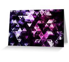 galaxy triangles Greeting Card