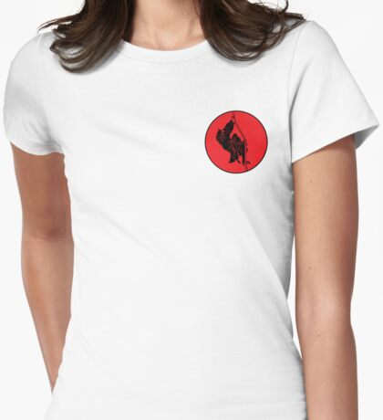 Ninja Climbing A Rope Womens Fitted T-Shirt