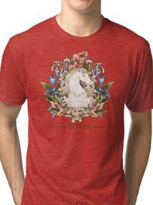 Vintage Florals & Horse Tri-blend T-Shirt