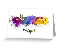 Prague skyline in watercolor Greeting Card