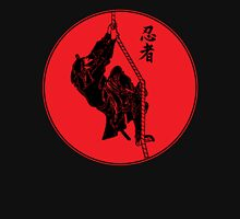 Ninja Climbing A Rope - Large Zipped Hoodie