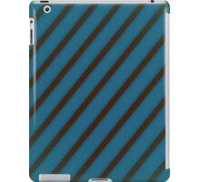 Brown stripes on blue iPad Case/Skin
