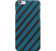 Brown stripes on blue iPhone Case/Skin