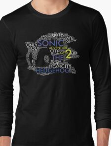 Sonic - City Escape Typography Long Sleeve T-Shirt