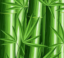 Bamboo Jungle Zen by BluedarkArt