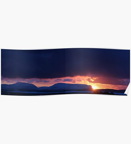 Winter sunset over Hoy Poster