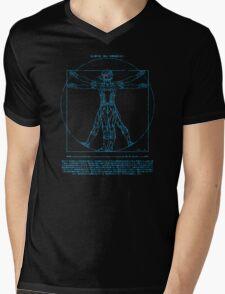 Vitruvian Cyborg Mens V-Neck T-Shirt