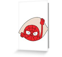 Spider man - Funny maternity t-shirt. Greeting Card