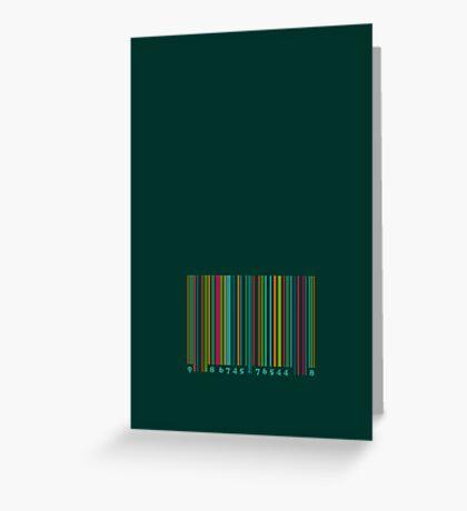 Bar code on green Greeting Card