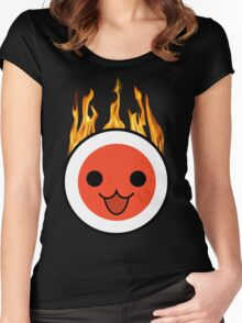 taiko fire Women's Fitted Scoop T-Shirt