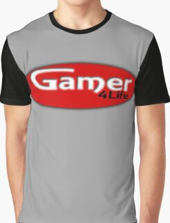 Gamer 4 Life Graphic T-Shirt